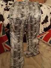 Trousers. size 10.or8.snake skin.print. slim. leg.fly. top. festival.party.dress