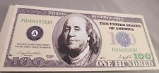 WHOLESALE LOT of 100 FAKE BEN FRANKLIN BILL CASINO NIGHT USA DOLLAR HUNDRED $100
