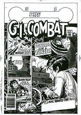 G.I. Combat 219 COVER ART Haunted Tank Joe Kubert B/W Acetate Production Proof