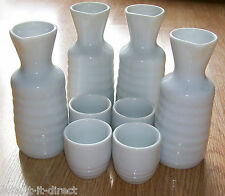 4 x WAGAMAMA SMALL JAPANESE SAKE FLASKS/BOTTLES & CUPS