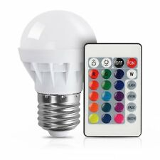 3W E27 Dimmable RGB LED light Color Changing Bulb with Remote Control 85-265V