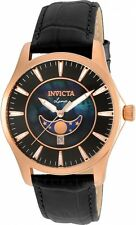 Invicta  Mens Vintage Quartz Moon Phase Amazing Mother-of-Pearl Dial