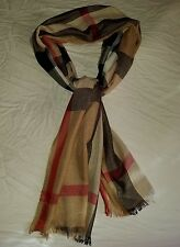 Burberry Camel Women's Scarf Cashmere