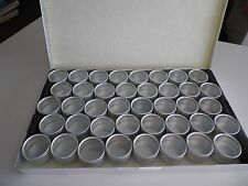 STORAGE FOR EYELETS  40 Glass top jars for eyelets