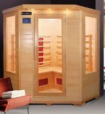 Sauna Infrarossi 150x65x120cm a 4 posti cromoterapia legno hemlock 6 irradiatori