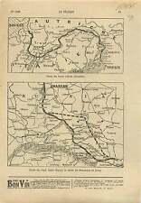 WWI Map Carte Austria Italia Front/Warsaw Poland Przemysl War 1915 ILLUSTRATION
