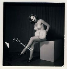 NUDE MODEL AT STUDIO / NACKTES MODELL Aktfoto * 60s SEUFERT Contact Print #2