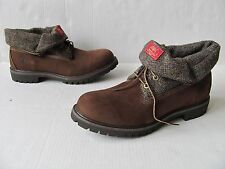 Timberland Men's Rolltop Plaid Brown Boots. Size 12