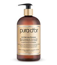 Pura d'or Anti-Hair Loss Shampoo, 16 Oz Gold Label