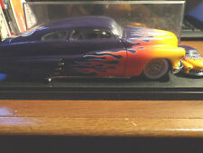 1:24 SCALE MATTEL HOT WHEELS LEGENDS '49 MERC FLAMED LED SLED IN BOX w/ 1:64 CAR