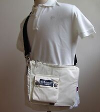 Authentic Belstaff Small Half Moon Bag Messenger Shoulder Cross Body Pearl White