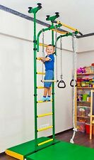 Indoor Sport Playground, Gym for Kids. Gymnastic Rings, Rope Trapeze Bar, Steps