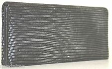 Judith Leiber MIRROR EEL SKIN Leather Stamped Grey Lieber NEW $195