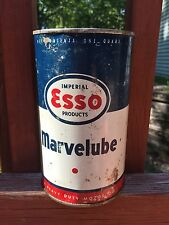 Vintage Imperial Oil Limited ESSO Marvelube Motor Oil 1 Quart Can Sign