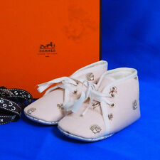 Authentic Hermes Light Pink/White Baby Shoes Good in Box