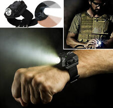 Rechargeable & Tactical R2 LED Flashlight Wristlight Wrist Light Lamp Waterproof