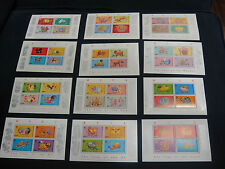 Hong Kong 1987-1998 Lunar New Year Complete 12 Souvenir Sheet MNH SCV$164.00
