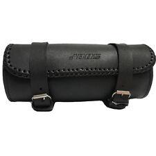 Echt Leder Motorrad Werkzeugtasche Werkzeugrolle Gepäckrolle Sattel Toolbag