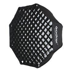 "Godox 80cm / 32"" Portable Foldable Octagon Umbrella Softbox with Honeycomb Grid"