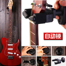 Black Autmatic Lock Hanger  Electric Guitar Wall Hook Holder Stand Hook Mount