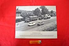 """Planche """" Relais routier Monts du Lyonnais"""" (Mars 1962) - Berliet Simca Citroën"""