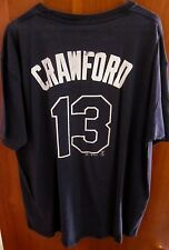 TAMPA BAY DEVIL RAYS lrg T shirt Carl Crawford baseball outfielder #13 tee Catch