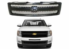 Replacement Black Paintable Grill For 2007-2013 Chevrolet Silverado New USA