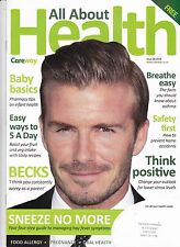 ALL ABOUT HEALTH Magazine No 28 (2016), UK. David Beckham cover & inside