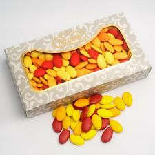 AUTUMN SHADES Red and Yellow Chocolate Dragees Luxury Wedding Favour Sweets