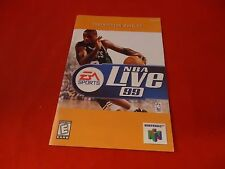 NBA Live 99 1999 Nintendo 64 N64 Instruction Manual Booklet ONLY