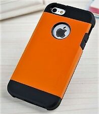 Simple Design Orange & Black TPU Back Phone Case Cover For iPhone 5 5S - NEW
