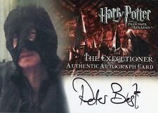 HARRY POTTER AND THE PRISONER OF AZKABAN PETER BEST AS THE EXECUTIONER AUTOGRAPH