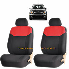 RED ELEGANT AIRBAG COMPATIBLE FRONT LOWBACK SEAT COVER SET for MINI COOPER