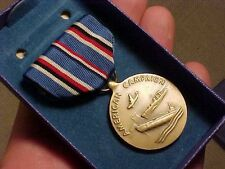 ORIGINAL WWII USN ISSUE AMERICAN THEATER CAMPAIGN MEDAL IN BOX