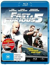 FAST & FURIOUS 5 - Bluray, Brand New & Sealed