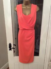 BNWT STUNNING LADIES FULLY LINED CORAL WIGGLE/PENCIL DRESS BY COAST - UK 10
