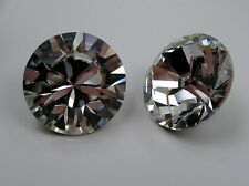 2 large Swarovski Xilion Chatons 25mm clear Crystal/Foiled #1028
