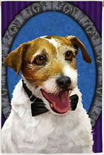 New Large Evergreen Flag Adorable Jack Russell Terrier Dog 29 X 43 Unique