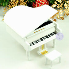 "Play ""Once Upon a December"" Wooden Piano Music Box With Sankyo Movement (White)"