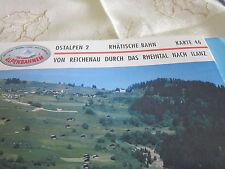 Alpenbahnen Ostalpen 2 K 46 Rhätische BAhn Reichenau Tamins Rheintal Ilanz