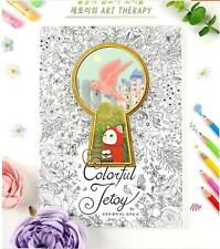Secret Garden Lovely Jetoy Cat Coloring Book Child Adults + Free 12 Pencils Gift