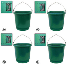 (4) ea Farm Innovators FB-80 3 Gallon Flat Back Heated Livestock Water Buckets