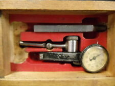 Vintage Micro Master  Dial Indicator Test Gauge Tool in Dovetail Wooden Box