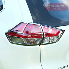4PCS Rear Light Lamp Frame Chrome Trim For Nissan X-trail Rogue 2014 2015 2016
