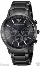 Emporio Armani AR2453 Full Black Chronograph Men's Watch + Original Box