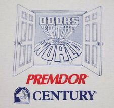 M * vtg 80s DOORS FOR THE WORLD advertising ringer t shirt * 49.115