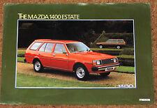 1981 MAZDA 1400 ESTATE Sales Leaflet/Brochure