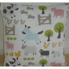 "NEW 16"" Cushion Cover John Lewis Farmyard Animals Chickens Pigs Donkey Sheep Cow"