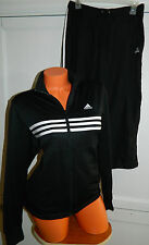 ADIDAS 2 pc. SET Medium JACKET Capris BLACK Track JOGGING Suit ATHLETIC    R