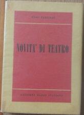 Novità di Teatro - Ferrieri -  Edizioni Radio Italiana,1952 - R